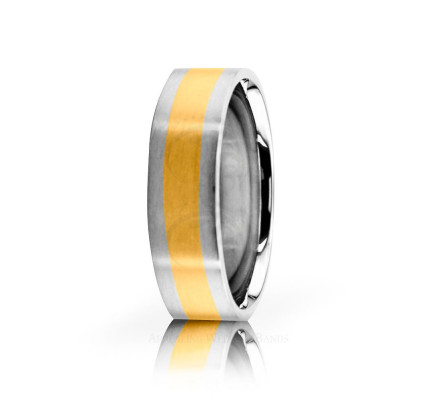 Solid Satin Stylish Wedding Band 6mm 02634