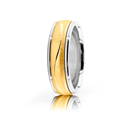 Solid Satin Designer Wedding Ring 6mm 02638