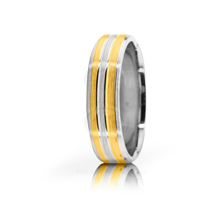 Solid Satin Stylish Wedding Band 6mm 02650