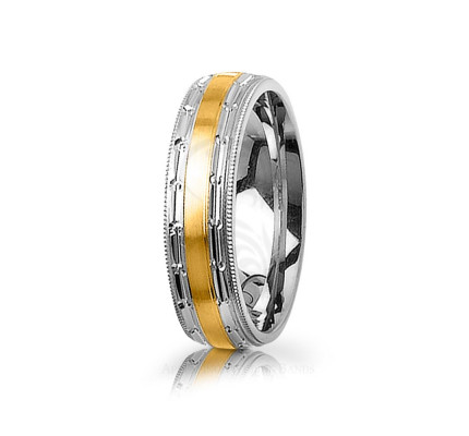 Authentic Satin Stylish Center Line Wedding Ring 6mm 03016