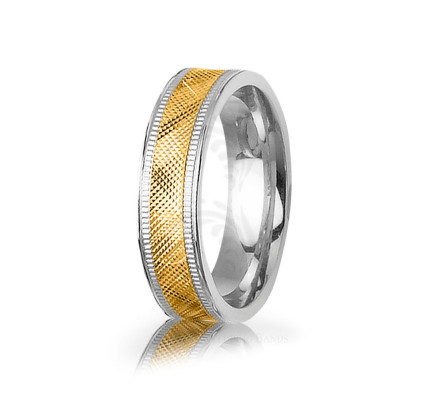 Genuine Polish Stylish X Wedding Band 6mm 03043