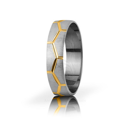 Authentic Satin Stylish Puzzle Thin Wedding Band 5mm 03059