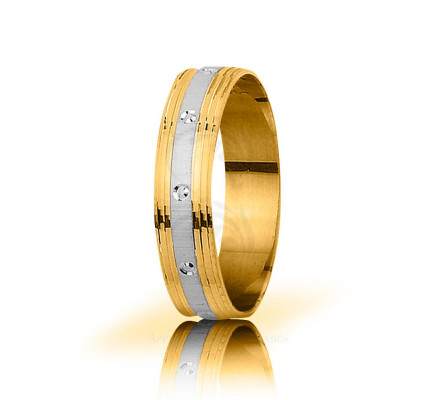 Solid Satin Stylish Thin Circle Wedding Band 5mm 03063