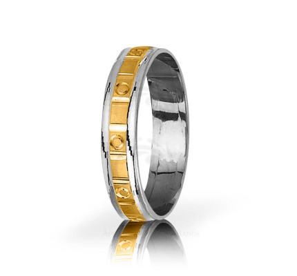 Genuine Satin Designer Thin Circle Wedding Ring 5mm 03065