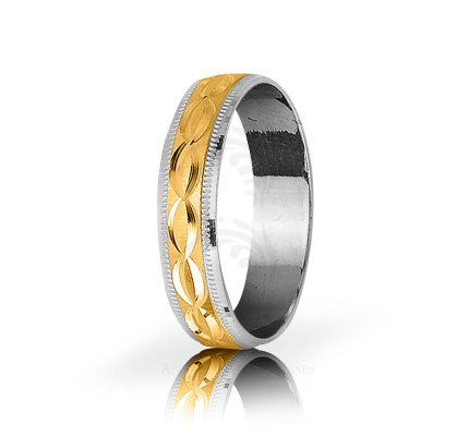 Solid Satin Stylish Thin Infinity Wedding Ring 5mm 03068