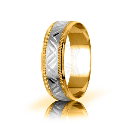 Genuine Satin Stylish Thin X Wedding Band 6mm 03071