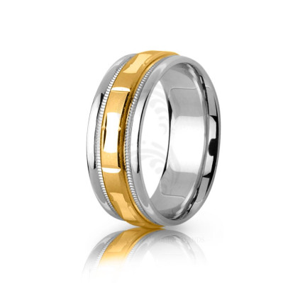Genuine Satin Stylish Rectangle Wedding Band 6.5mm 03080