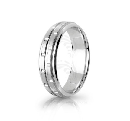 Handwoven Satin Stacking Wedding Ring 6.5mm