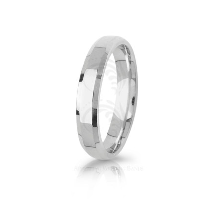 Solid Polish Stylish Top Flat Wedding Band 4mm 03093