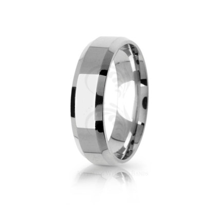 Genuine Polish Designer Top Flat Wedding Ring 6mm 03095