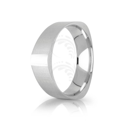 Genuine Satin Stylish Plain Wedding Ring 6mm 03104