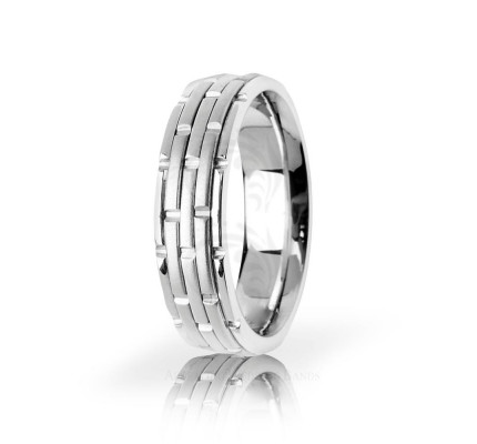 Authentic Satin Designer Stacking Wedding Band 6mm 03111