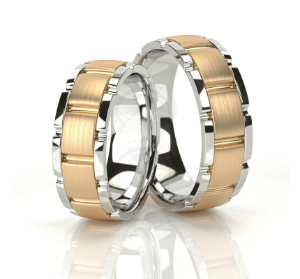 Satin His And Her Wedding Rings 7mm 03506