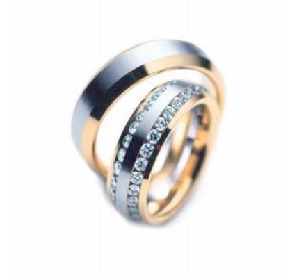 Polish His And Her Wedding Rings 2 Ctw Round Diamond 6mm 03516