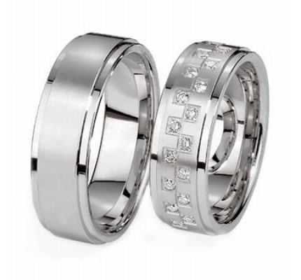 Satin His And Hers Wedding Bands 7mm 03625