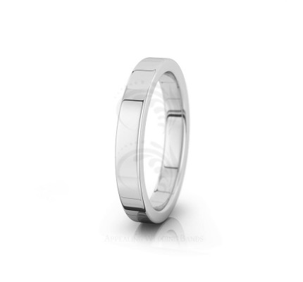 Solid Polish Traditional Flat Soft Edge Wedding Band 3.5mm 04007