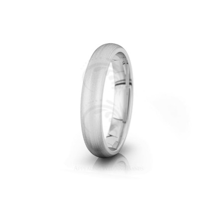 Solid Satin Plain Dome Wedding Band 4mm 04008